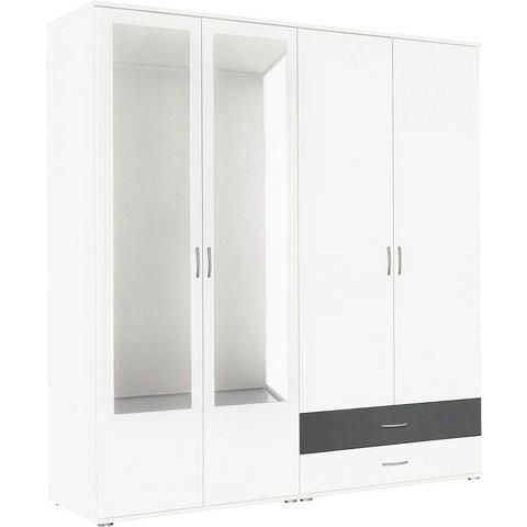 Kledingkasten RAUCH Garderobekast met spiegel en laden 515471