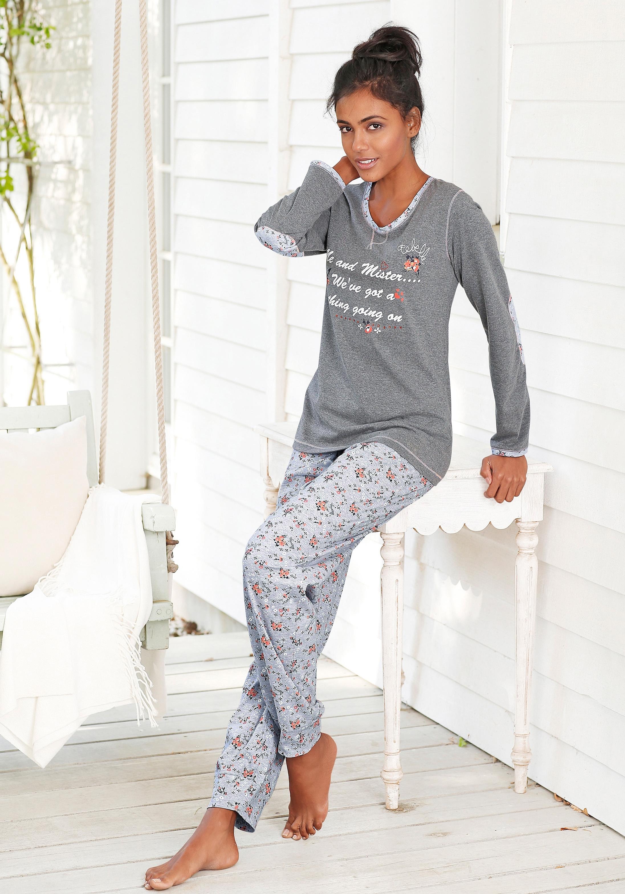 Rebelle Pyjama met contraststrook aan de hals nu online bestellen