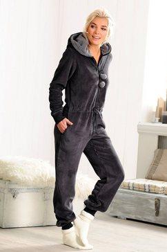 rebelle jumpsuit met ritssluiting grijs