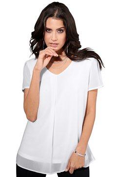 création l blouse van iets transparant chiffon wit