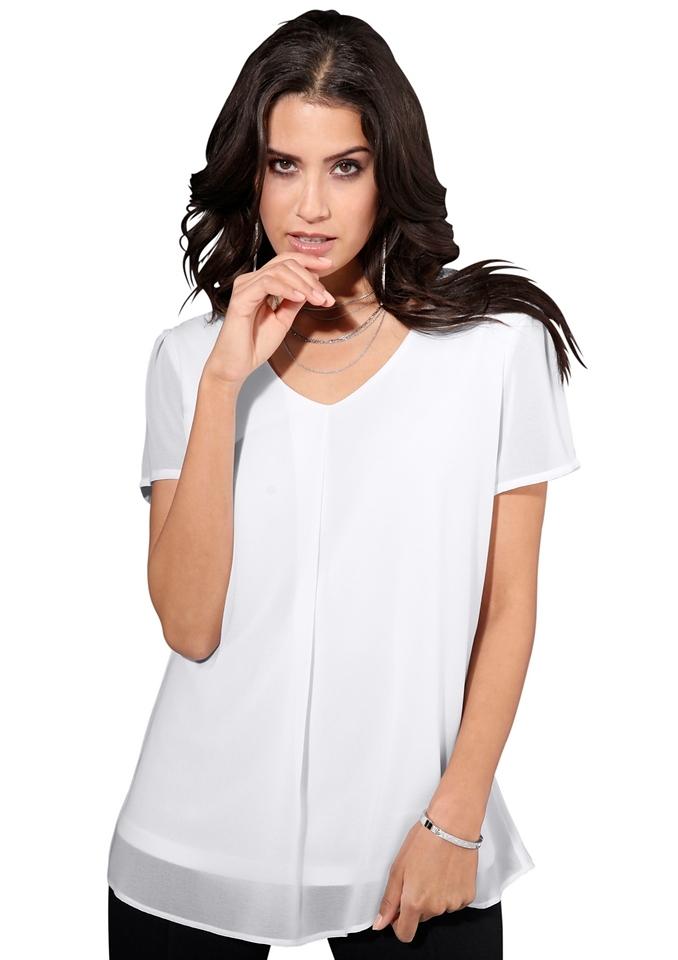 creation L Création L blouse van iets transparant chiffon in de webshop van OTTO kopen