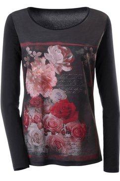 Lang shirt met print van rozen