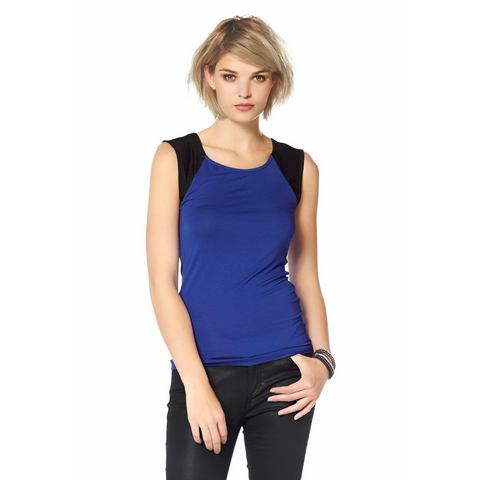 LAURA SCOTT Shirt in een materialenmix