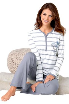 ringella pyjama in interlock-kwaliteit beige