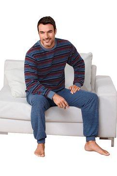 pyjama van fijnfrotté blauw