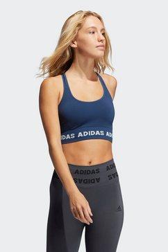adidas performance sport-bh »training aeroknit« blauw