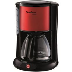 moulinex koffiezetapparaat subito fg360d, met glazen kan, rood-metallic-zwart rood