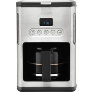 krups koffiezetapparaat km442d, met glazen kan, edelstaal-zwart zilver