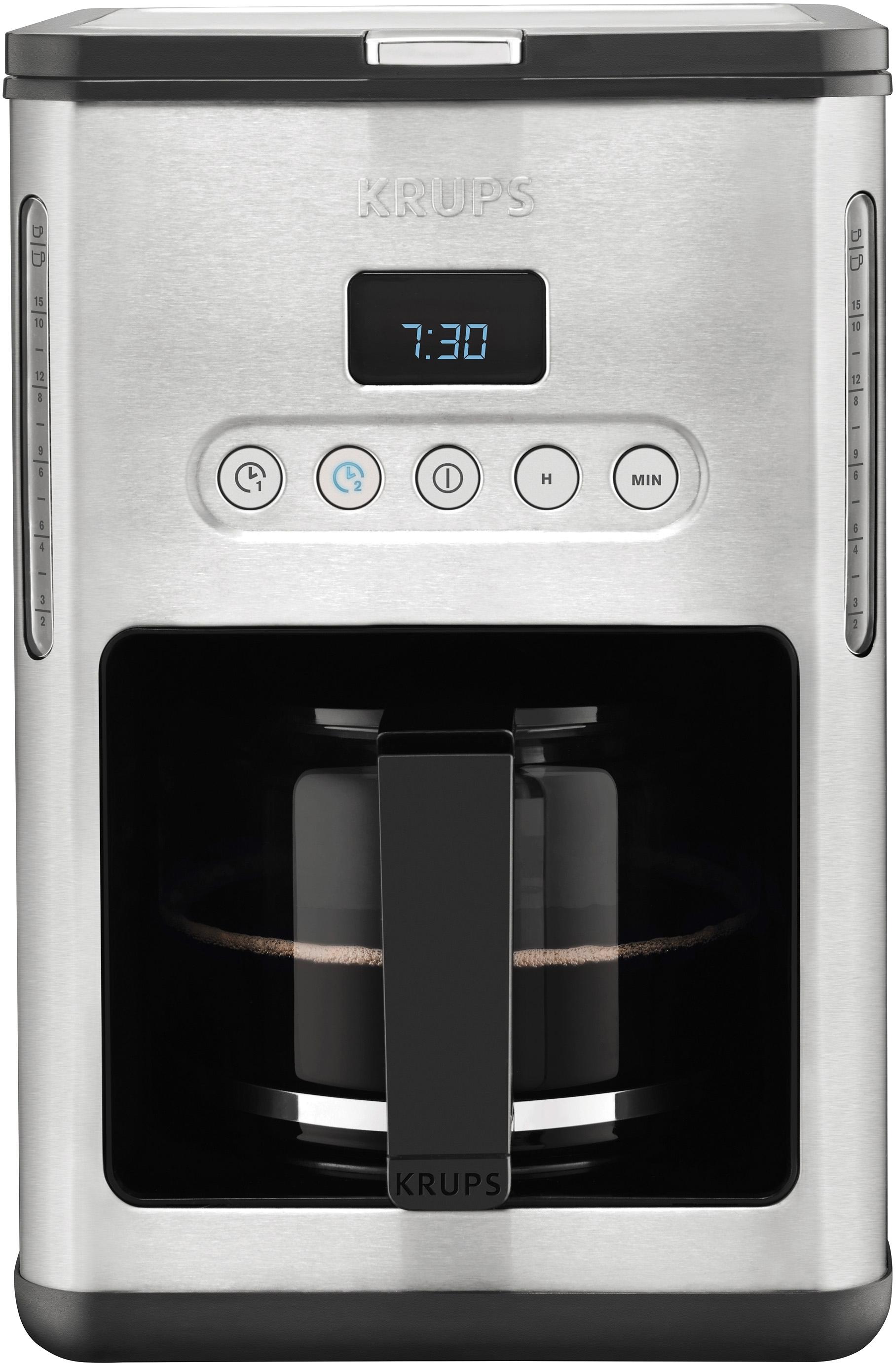 Op zoek naar een Krups Koffiezetapparaat KM442D, met glazen kan, edelstaal/zwart? Koop online bij OTTO