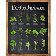 home affaire decoratief paneel keukenkruiden 40-50 cm groen