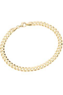 firetti armsieraad: armband met pantserkettingschakels, 2-voudig gediamanteerd goud