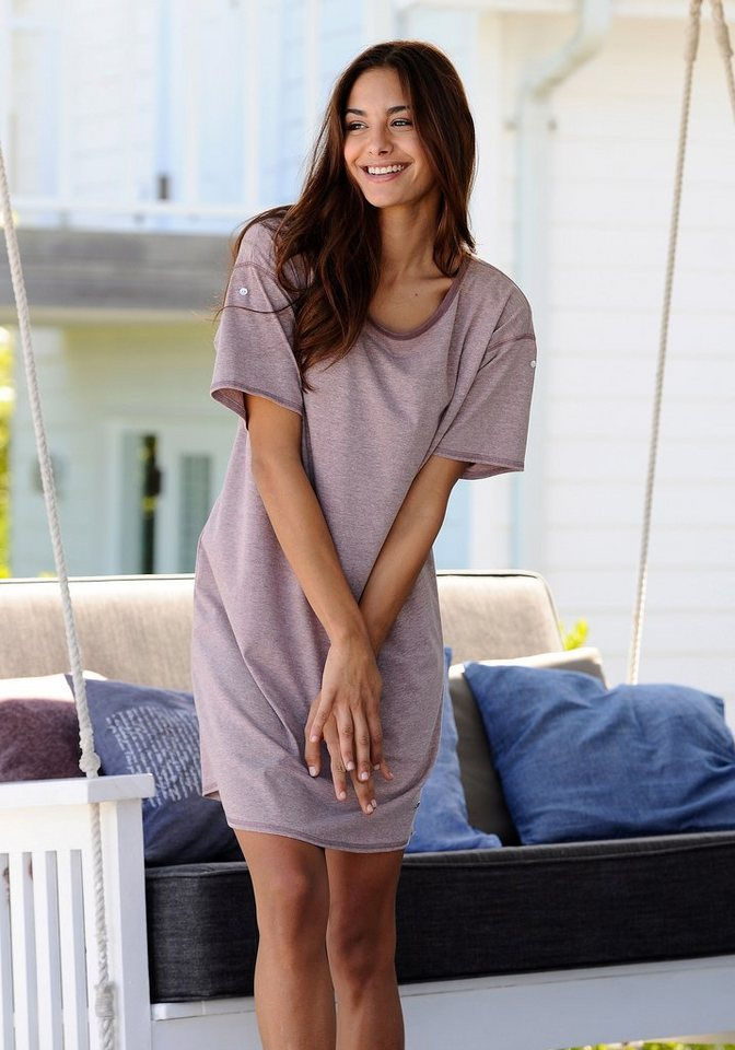 ARIZONA Nachthemd met parelmoeren knopen