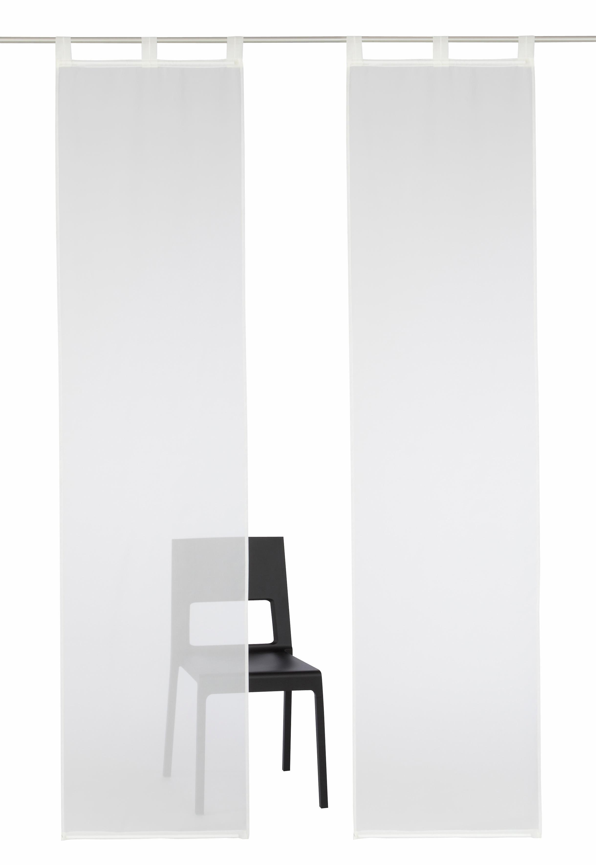 my home Paneelgordijn Xanten inclusief verzwaringsstangen, transparant, breedte: 57 cm (2 stuks) in de webshop van OTTO kopen