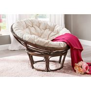 home affaire papasan-stoel met kussen bruin