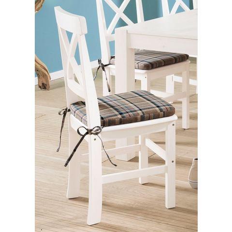 Eetkamerstoelen HOME AFFAIRE Grenen stoel in set van 2 722382