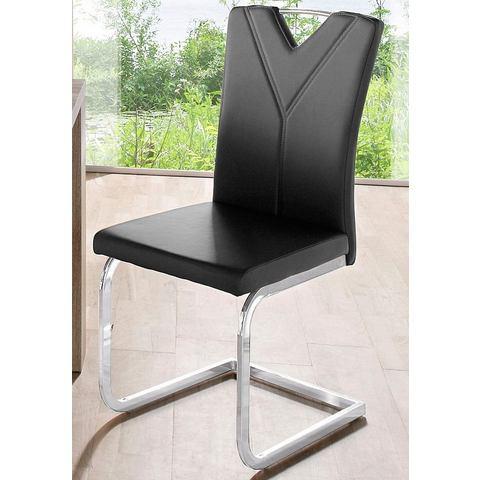 Eetkamerstoelen Vrijdragende stoel in set van 2 of set van 4 476718
