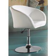 fauteuil met schotelvoet wit