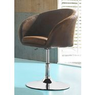 fauteuil met schotelvoet bruin