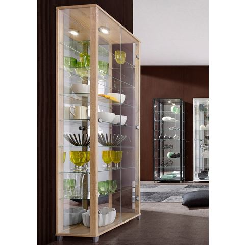 Kasten  vitrinekasten Vitrinekast met spiegelachterwand  7 glasplateaus 681120