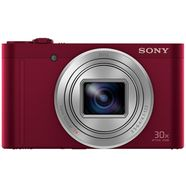 sony dsc-wx500 superzoom camera, 18,2 megapixel, 30x opt. zoom rood