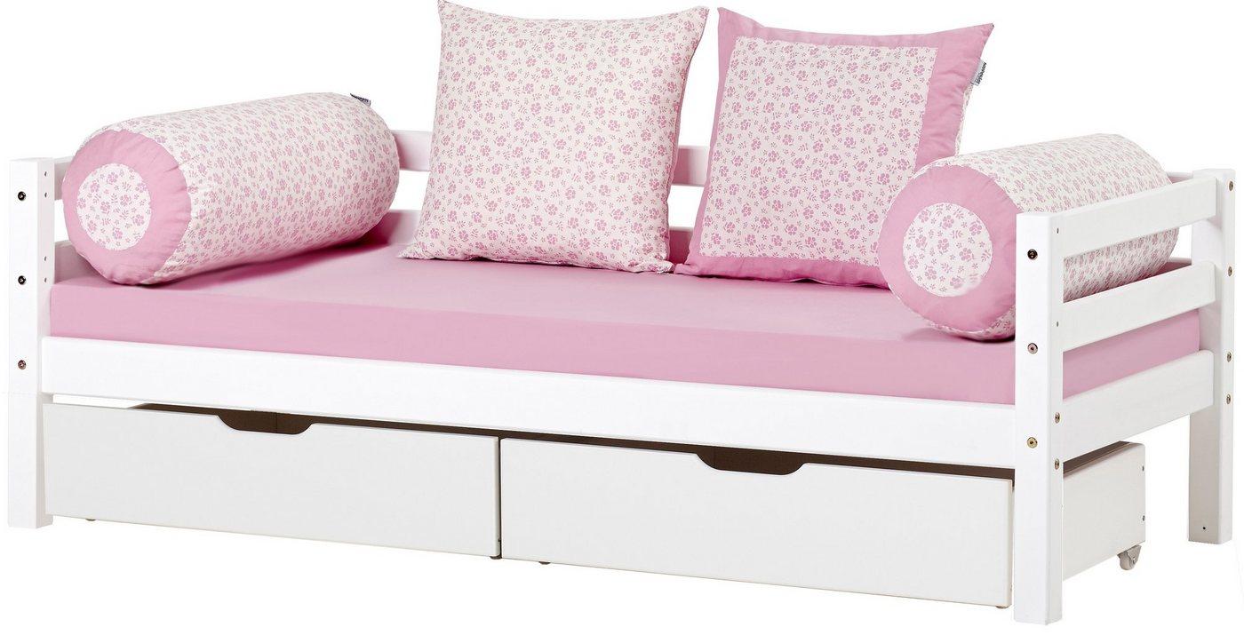 Hoppekids bedbank inclusief ladeset, geschikt voor 'eenhoorn'- of 'romantisch' motief