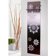 sz metall designradiator »flower« zilver