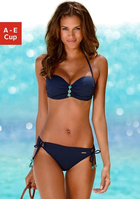 Lascana beugelbikini in bandeaumodel met chique siersteentjes bij de cup bij OTTO online kopen