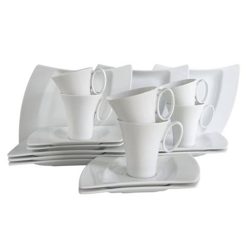 CREATABLE Porseleinen koffieservies WING 18-delig