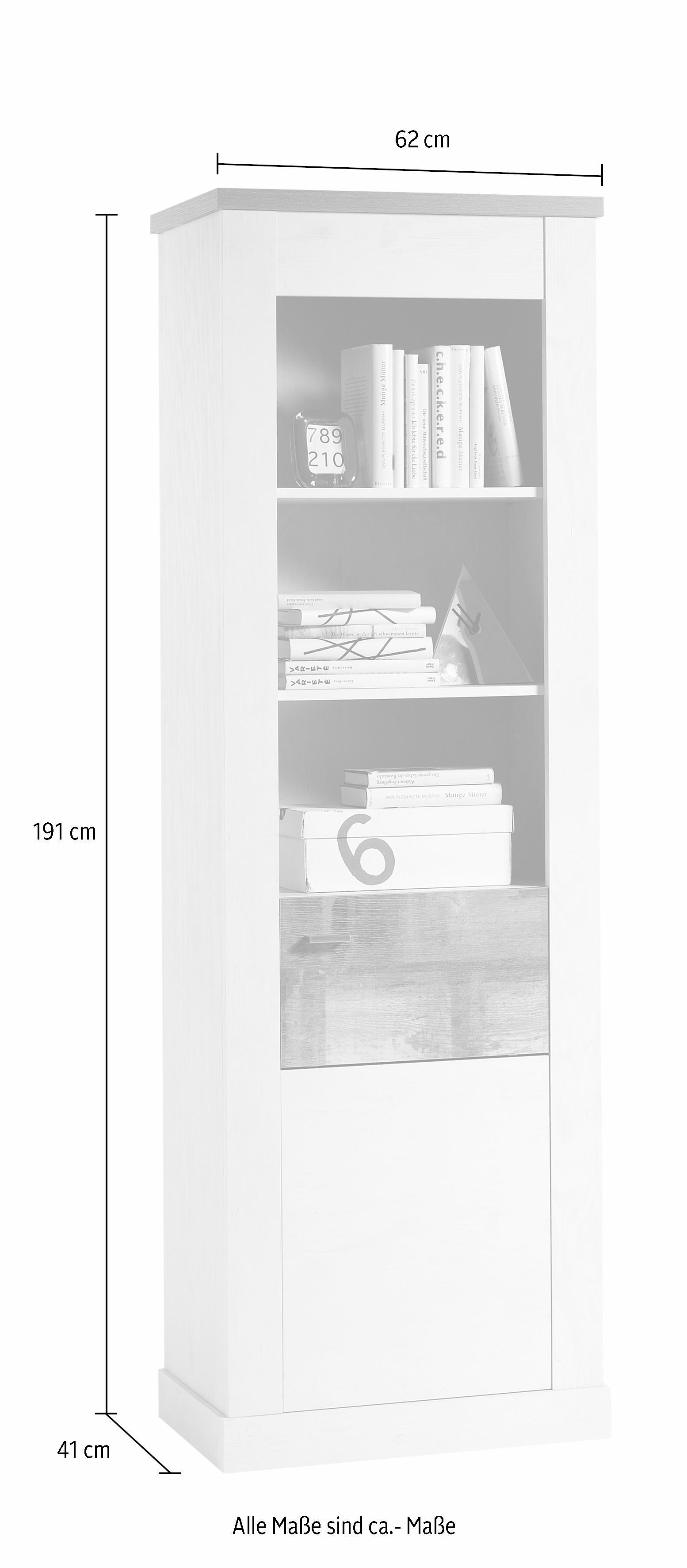 Vitrinekast, »Marlin /1H « hoogte 191 cm nu online bestellen