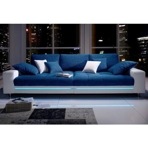 woonkamer extra groot bankstel wit Megabank naar keuze met RGB LED verlichting 36