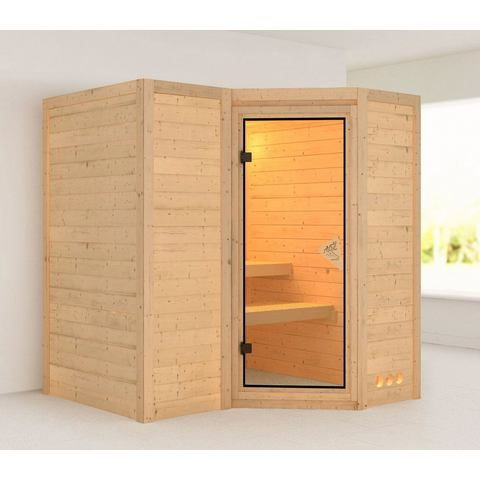 Sauna Sahib 1 Massieve 40mm Sauna Wanden Karibu