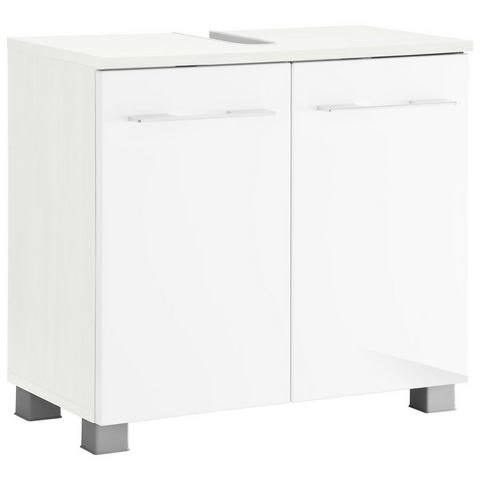 KESPER kast Balli met metalen grepen witte badkamer wastafelonderkast 43