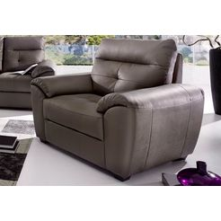 softline fauteuil van luxe-imitatieleer bruin