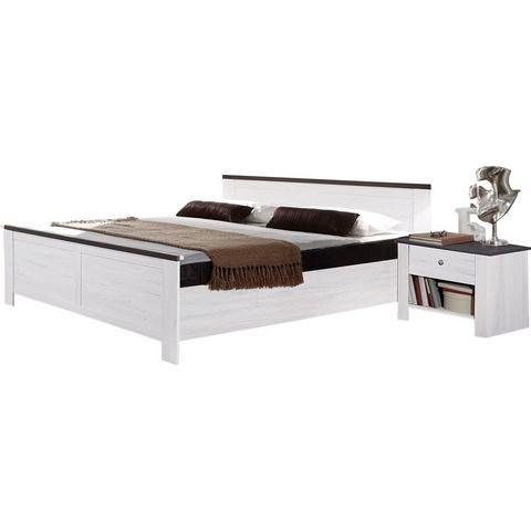 Bed met decoratieve opleglijsten zonder lade wit Wimex 591779