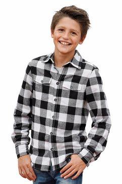 arizona geruit overhemd zwart