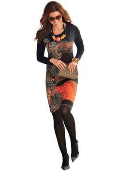 jurk met print zwart