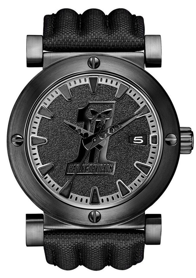 Harley Davidson horloge 'Black Label 78B131'