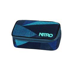 nitro schooletui, »pencil case xl - fragments blue« blauw