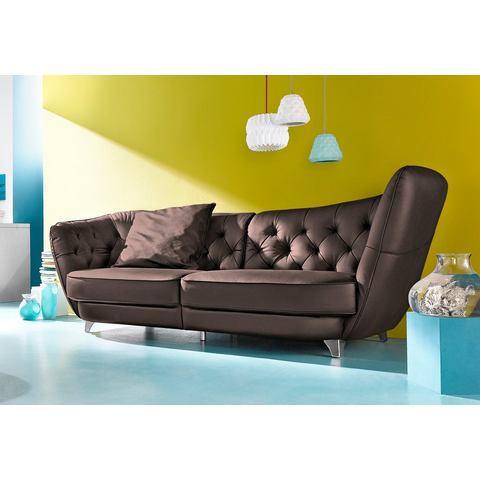 woonkamer extra groot bankstel bruin COTTA Megabank met polyetherschuimvulling 30