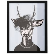 home affaire ingelijste artprint »ree in stijlvolle avondmode« paars