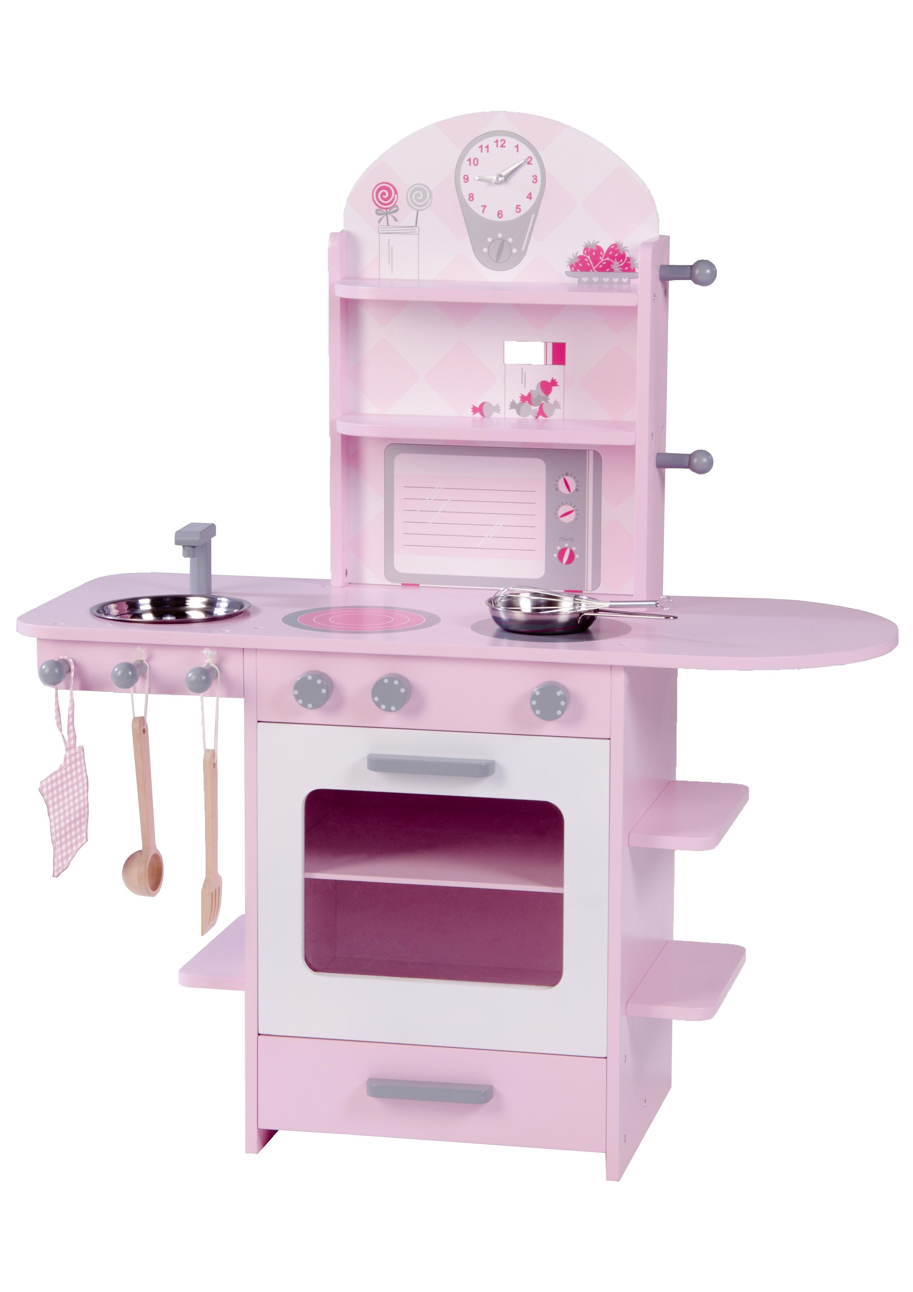 Roba Speelkeukentje Kinderkeuken roze - gratis ruilen op otto.nl