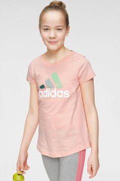 adidas performance t-shirt »joung girls batch of sport graphic tee« roze