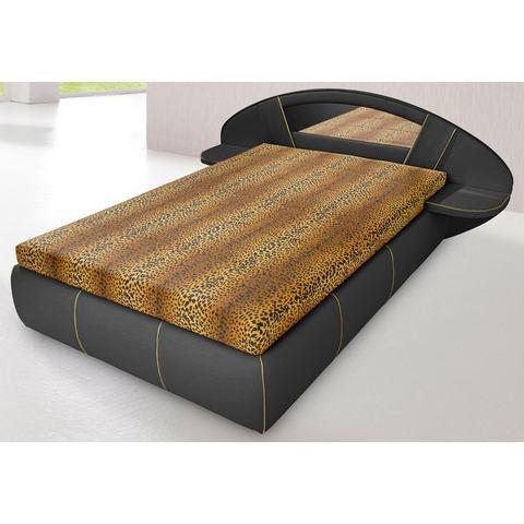 HAPO Bed met spiegel hoofdbord alleen Bedframe zwart Hapo 274001
