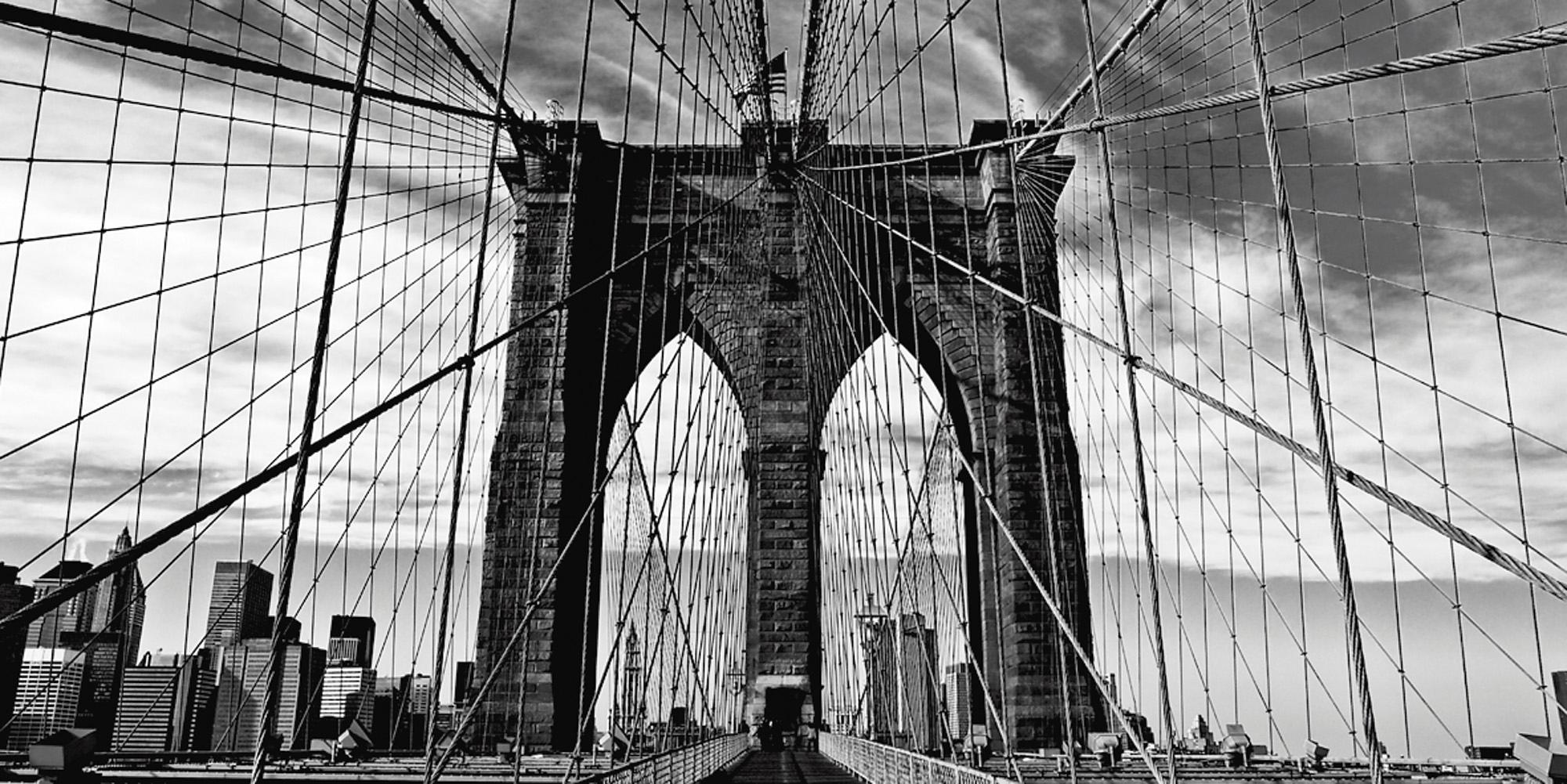 Home affaire artprint op linnen »Peter Knif: Brooklyn Bridge«, 100x50 cm - gratis ruilen op otto.nl