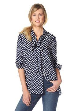 Overhemdblouse met platte kraag