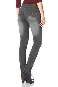 Skinny-jeans met bewegingsplooien