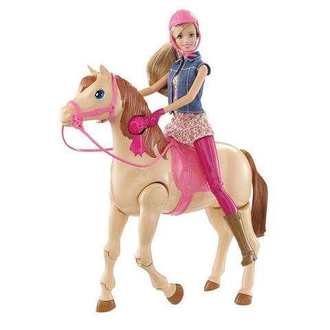 MATTEL Barbie-speelset Rijpaard en Barbiepop