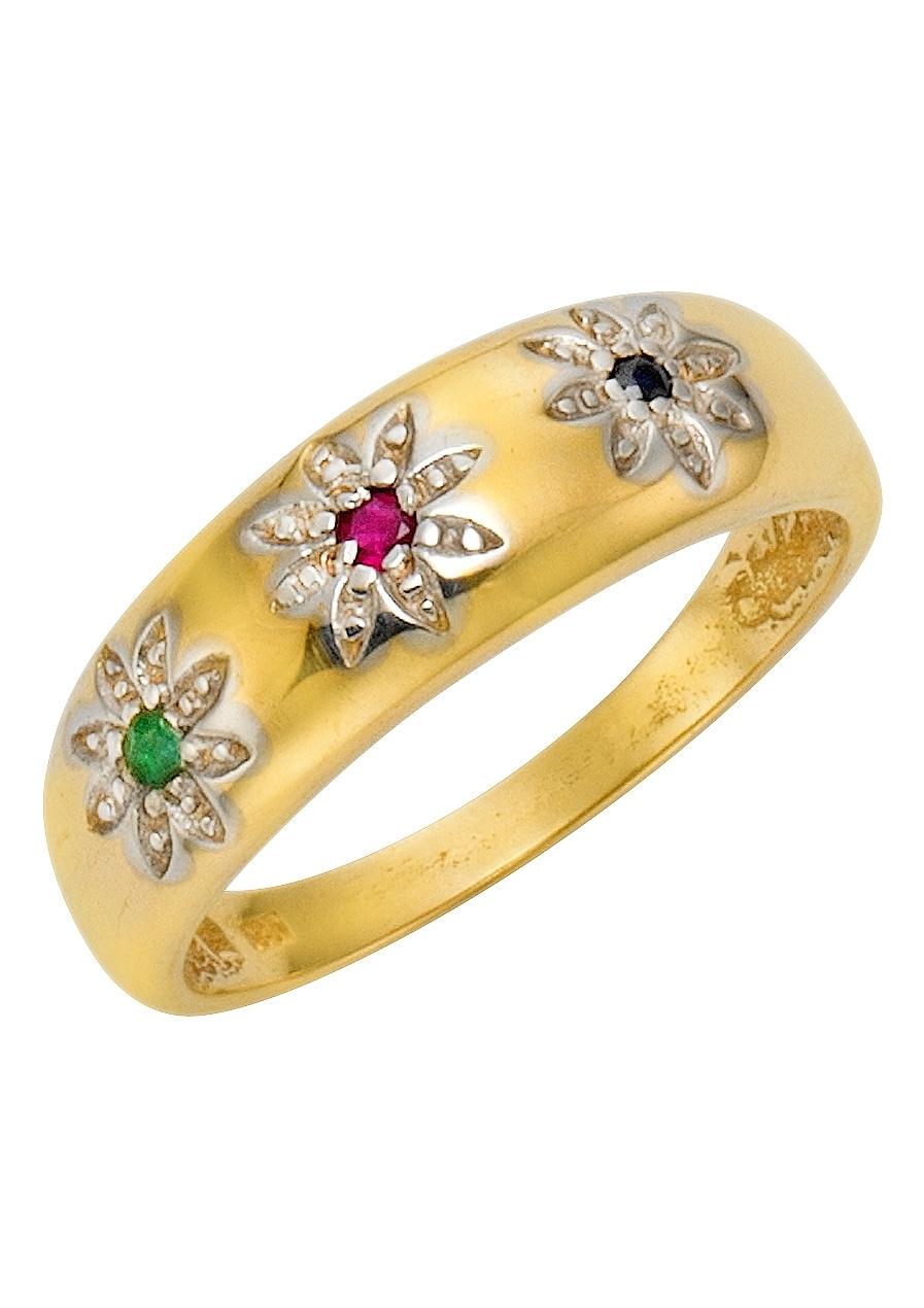 Firetti Vivance Jewels ring met saffier, smaragd en robijn voordelig en veilig online kopen