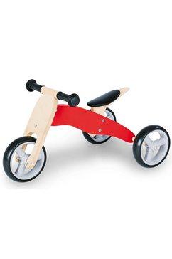 pinolino loopfiets charlie leren lopen driewieler 2-in-1 rood