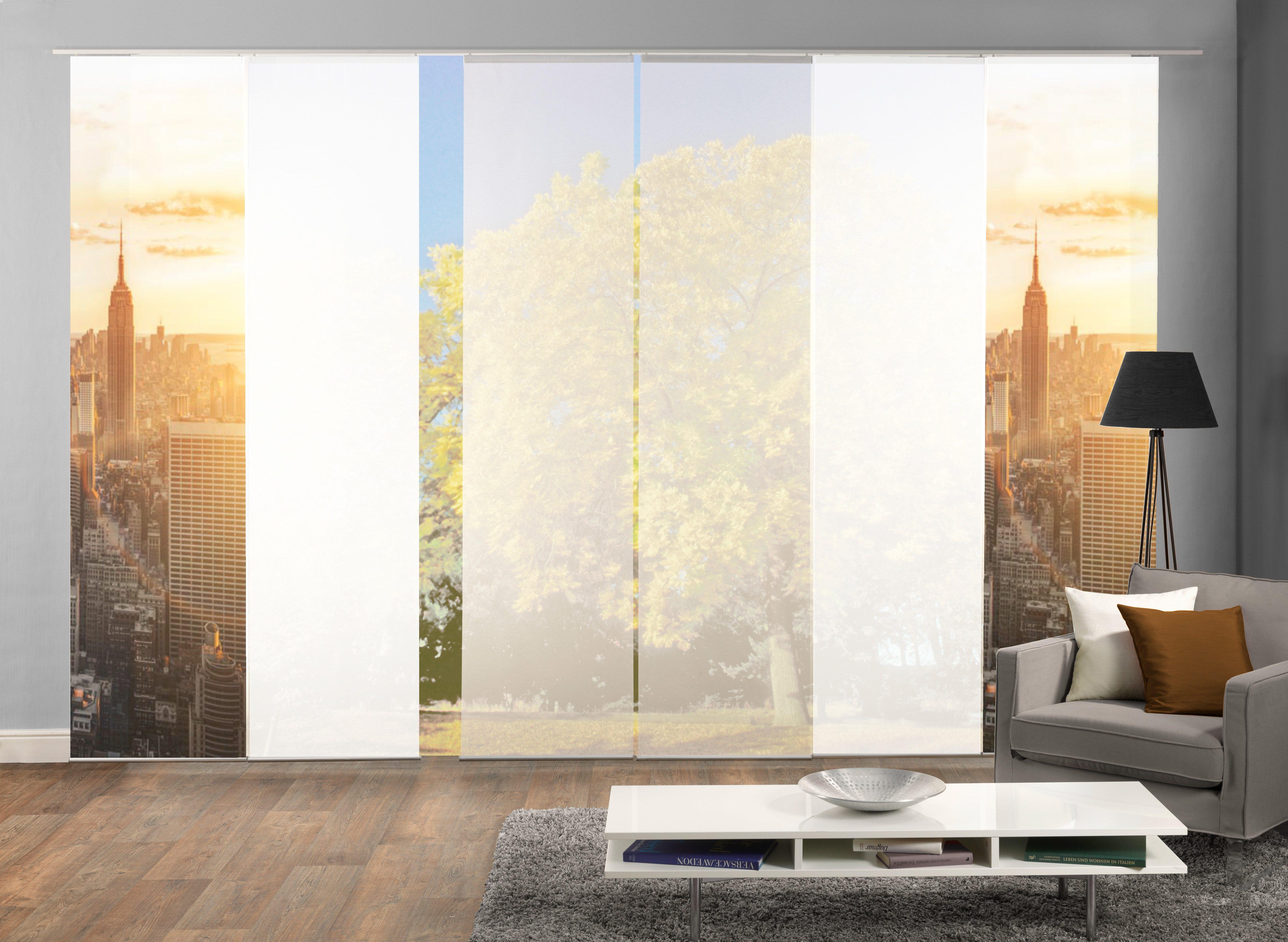 Paneel Gordijn 6 : Paneelgordijn horizont« home wohnideen klittenband set van